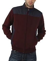 Fahrenheit Men's Fleece Sweat Shirt (8903942223778_Maroon_X-Large)