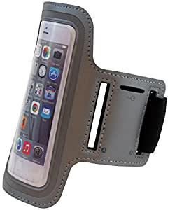 Apple Iphone 6 4.7'' Inch Neoprene Cell Phone Armband for Running, Walking, Hiking, and Other Exercise and Sports Activities by ASCT (Silver)