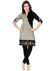 Vasanche Green Cotton Kurti Tops And Tunics
