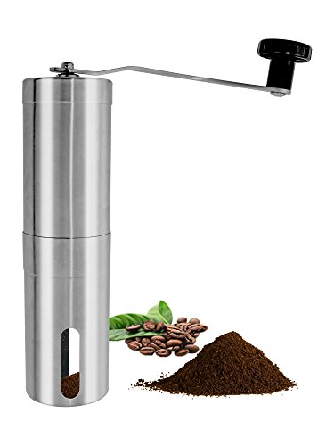 ONME Manual Coffee Grinder, Manual Coffee Grinder with Ceramic Blade, Stainless Steel Coffee Bean Mill