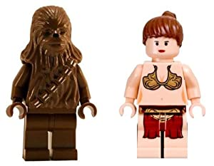 LEGO Chewbacca and Princess Leia (Return Of The Jedi) Loose Star Wars Figures