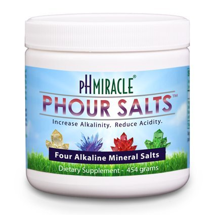 Young Phorever Phour Salts By Ph Miracle Living and Dr. Robert O Young Provides Four Salt Minerals Sodium Bicarbonate, Magnesium Chloride, Potassium Bicarbonate, and Calcium Chloride
