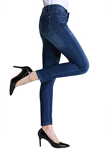Butt Lift Skinny Jeans, P.LOTOR Women's Casual Distressed Stretch Jeans Legging (10)