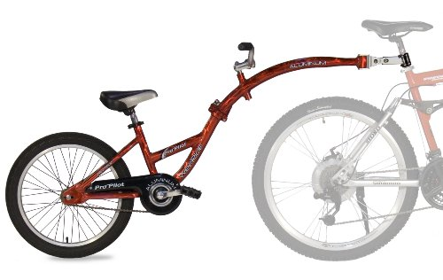 WeeRide Aluminium Lightweight Pro Pilot Tagalong Trailer Bike, Ages 4-9