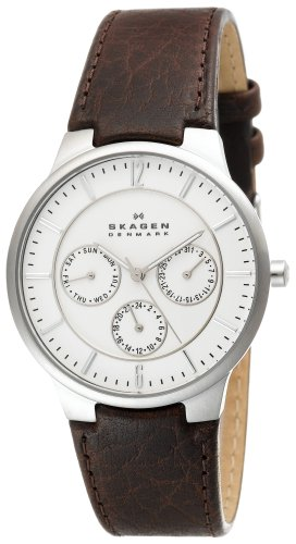 Skagen Men's 331XLSL1 Steel Brown Leather Multi-Function Watch