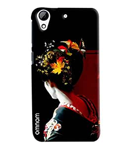 Omnam Girl Giving Back Pose Printed Designer Back Cover Case For HTC Desire 626