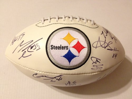 2011-2012 PITTSBURGH STEELERS Team Signed Autographed Logo Football COA