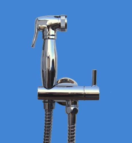 Chromed Solid Brass Bidet Shower and Combination holder set