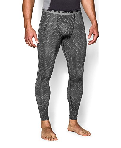 Under Armour Men's UA HeatGear Armour Printed Compression Leggings Large Black