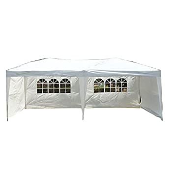Goutime Uscanopy Easy Pop up Canopy Party Tent, 10 X 20-feet, W/4 Removable Sidewalls W/wheel Bag