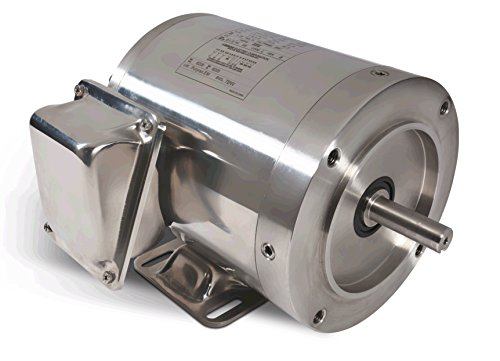 1/2 Hp 1750 Rpm 56C Frame Tenv 208-230/460 Volts Stainless Steel Leeson Electric Motor # 191204
