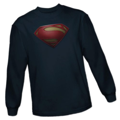 Costume Superman Shield -- Man of Steel Movie Adult Long-Sleeve T-Shirt