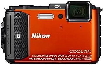 """Nikon Coolpix AW130 Appareil photo numérique compact 16 Mpix Écran LCD 3"""" Zoom optique 5X orange"""