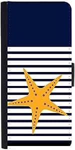 Snoogg Starfish Nautica Designer Protective Flip Case Cover For Samsung Galax...