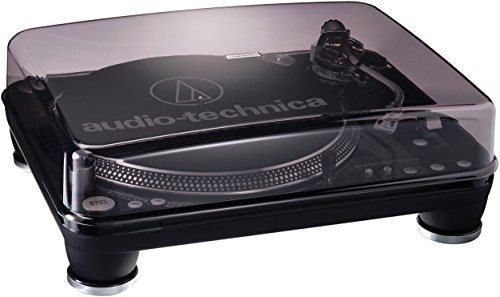 Audio-Technica AT-LP1240 USB, Giradischi Professionale a Trazione Diretta per DJ, USB e Analogico
