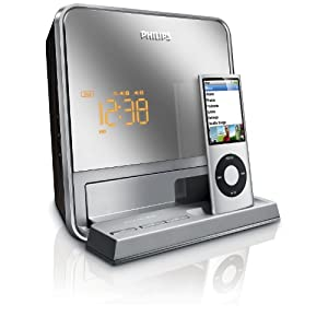 philips dc190b 37 digital fm dual alarm clock radio with ipod dock electronics. Black Bedroom Furniture Sets. Home Design Ideas