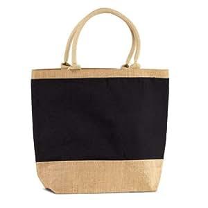 Jute Burlap Beach Tote Bag Zippered Closure Wedding Holidays Gift Bag - Black Friday Sale