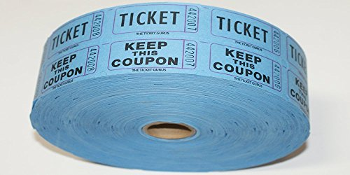 Double Raffle Ticket Roll : roll of 2000-(Blue) (Double Raffle Tickets Blue compare prices)