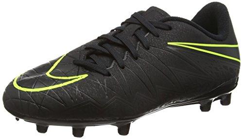 Nike Hypervenom Phelon Ii Fg, Scarpe da Calcio Unisex - Bambini, Nero (Black/Black), 38 EU