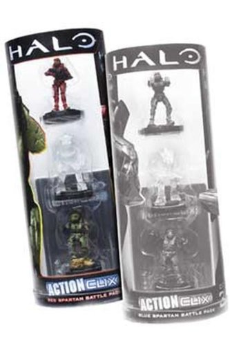 Halo ActionClix Trading Miniature Figure Game Red Spartan Battle Pack - 1