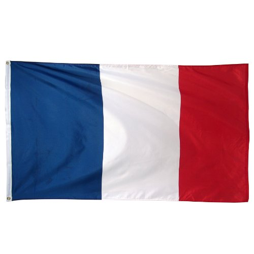 Online Stores France Printed Polyester Flag, 3 by 5-Feet