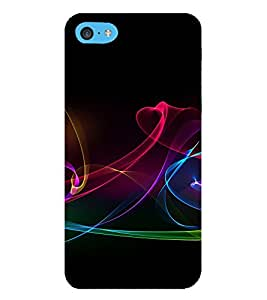 PrintVisa Colorful Flames Pattern 3D Hard Polycarbonate Designer Back Case Cover for Apple iPod Touch 6