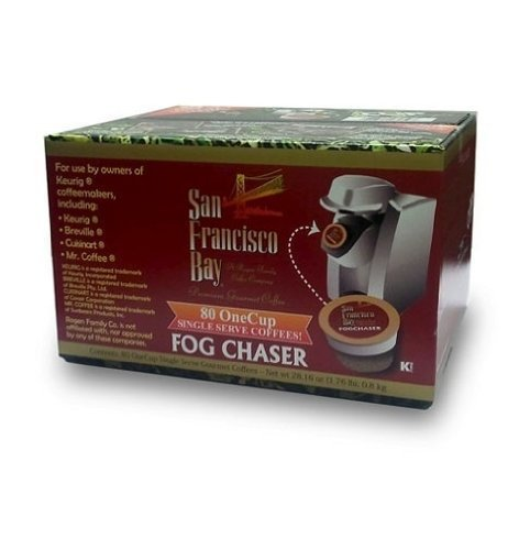 San Francisco Bay Coffee OneCup for Keurig K-Cup Brewers, Fog Chaser, 80-Count