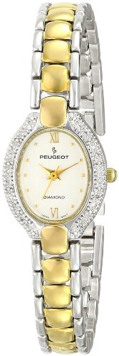 Peugeot Women's 779TT Two-Tone 1/10 carat Genuine Diamond Bracelet Watch