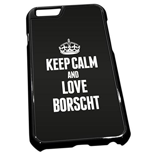 Noir coque pour iPhone 60845Noir Keep Calm and Love Bortsch
