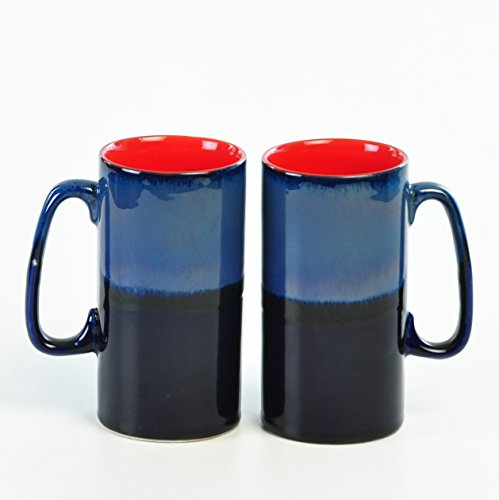 Cultural Concepts Blue Studio Tunnel Beer Mugs - Set Of 2