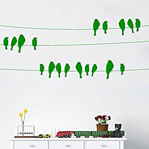 DeStudio Bird On Wire Chalkboard Wall Decal, Size XXX Large & Color : GREEN