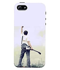 Fuson 3D Printed Guitar Designer Back Case Cover for Apple iPhone 5S - D830