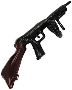 Smiffys 75cm Inflatable Tommy Gun (Black)