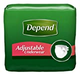 Depend Adjustable Underwear, [Small/Medium], Maximum Absorbency, 18-Count Packages (Pack of 4)