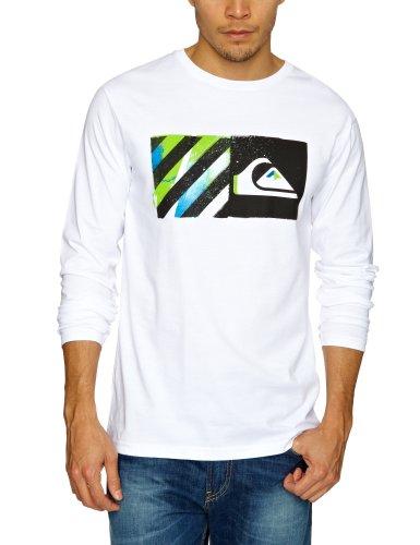 Quiksilver Baseline Longsleeve Logo Men's T-Shirt White Large