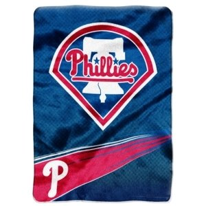 Philadelphia Phillies 60''x80'' Royal Plush Raschel Throw Blanket - Speed Design at Amazon.com