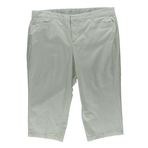 Jm Collection Plus Size New White Capri Pants 16