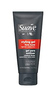 Suave Professionals, Men's Styling Gel, Firm Hold, 7Ounces  (Pack of 4)