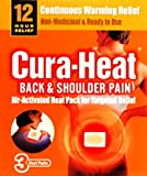 Cura Heat Back and Shoulder Pain Heat Pads - Pack of 3