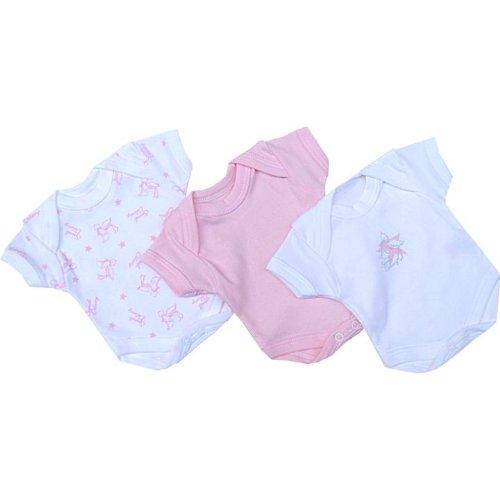 Premature Early Baby Clothes Pack of 3 Bodysuits / Vests 0-1.5lb,3.5lb,5.5lb,7.5lb Pink Prem 2