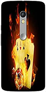 Snoogg Triple Ace Fire Solid Snap On - Back Cover All Around Protection For M...