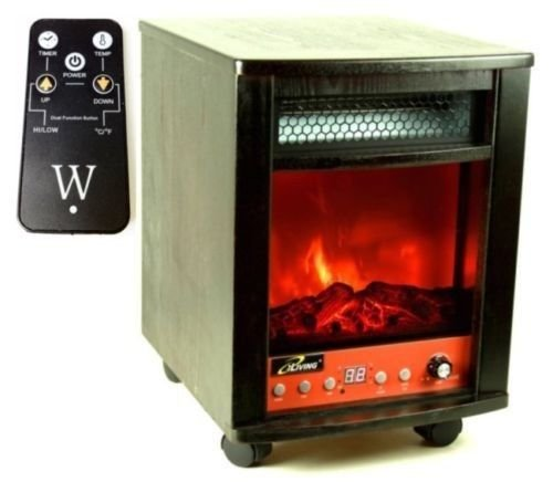 NEW Home 1500 Watt Portable Electric Fireplace Space Heater w Realistic Flame image B00H7F7FT0.jpg