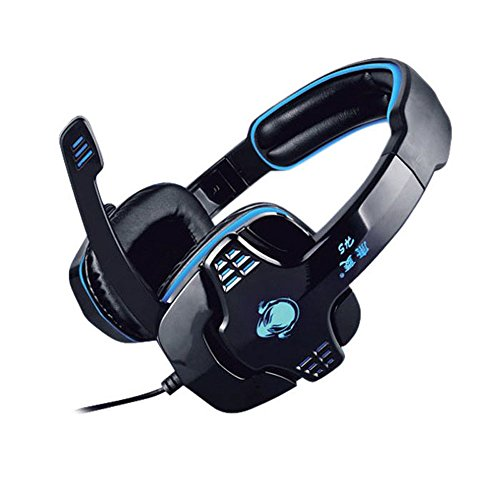 Zps(Tm) The Brand New Gaming Headset Headphone Microphone Mic Earphone For Pc Notebook Game Blue And Black