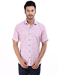 baaamboos Formal Shirts Rich Linen HRL0305 (Pink, 44)