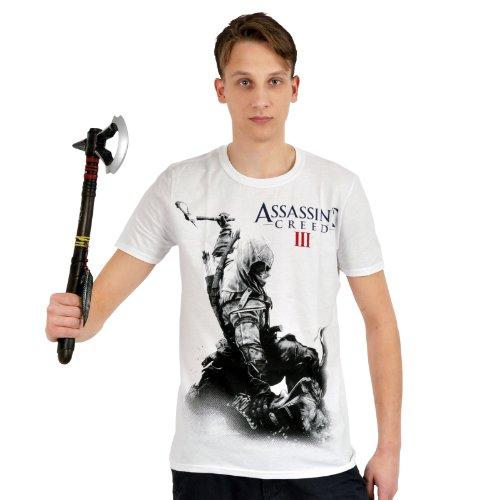 Assassins Creed III - T Shirt Monotone Connor - Maglia girocollo - bianca - XL
