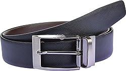 Zakina Men's Belt (ZE054, Black and Brown, 36 Inches)