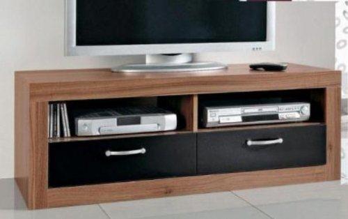 8011-TV-Teil-Fernseh-Tisch-Lowboard-in-mehreren-Farben-verfgbar-walnuss-schwarz