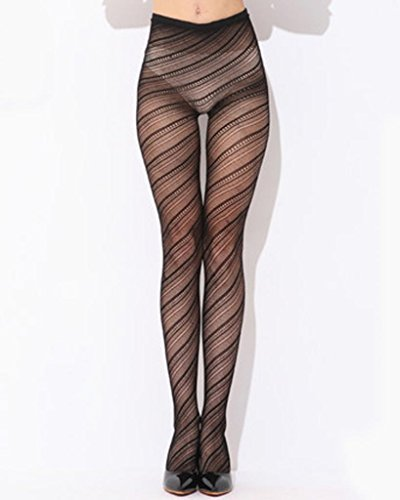 Charmsky Women Sexy Fashion Fish Net Lace Patterned Pantyhose Tights Stockings