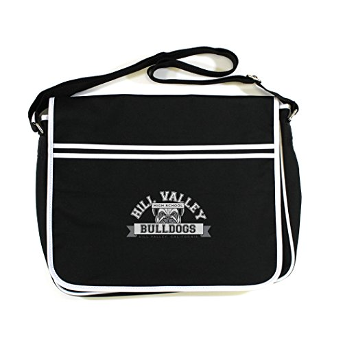 Back to the Future: Hill Valley Bulldogs Retro Messenger Bag (Black) - premium quality