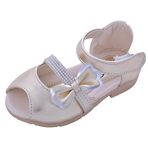 Doink Shoes Gold PU Baby Girls Sandals UK Size 7(25 to 27 mths)